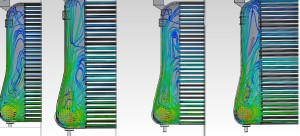 CFD testing results of Mishimoto prototype intercooler