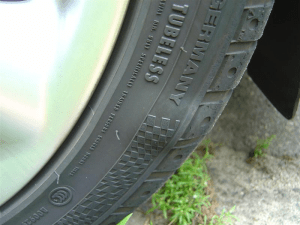 Bubble in tire sidewall