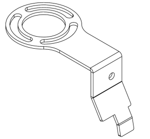 Drawing of coolant filter housing bracket