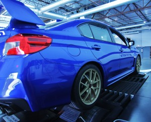 2015 Subaru STI on dyno