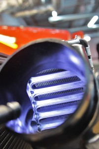 Stock intercooler core interior