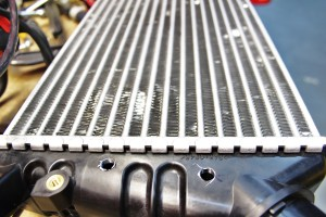 Stock intercooler tapped for sensors