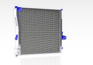 Mishimoto E46 3-series aluminum radiator 3D model