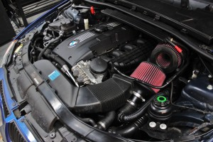 E90 Test vehicle engine bay