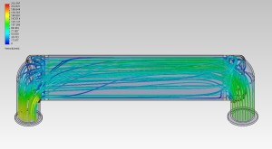 CFD of air dispersion in Mishimoto prototype intercooler without a diverter