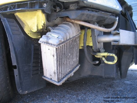 Side-mount intercooler example