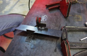 Auxiliary bracket fabrication