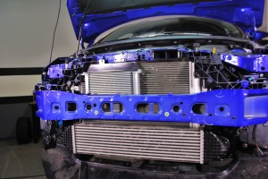 Mishimoto oil cooler kit installed