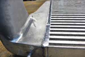 Mishimoto intercooler prototype welds