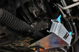 Miata oil cooler mock-up