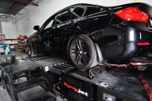 Test vehicle on dyno