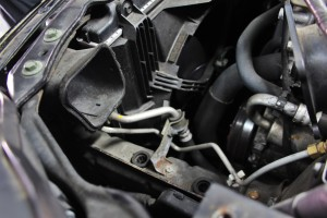 Stock Nissan 350Z intake airbox removed