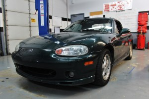 NB Miata test vehicle