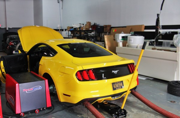 Preparing for EcoBoost Mustang downpipe testing