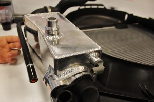 Fluid level sensor installed in Mishimoto prototype BMW E46 expansion tank