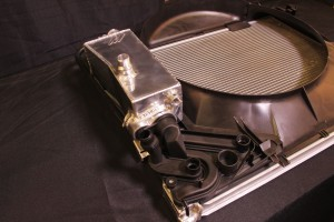 Mishimoto prototype BMW E46 expansion tank installed on fan shroud