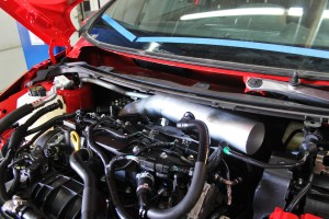 Prototype Ford Fiesta ST intake piping fabrication