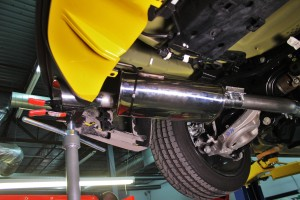 Mustang EB exhaust tip fabrication