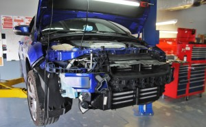 Focus ST on lift for parts evaluation