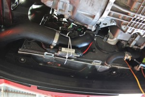 Mishimoto Ford Fiesta ST radiator installed