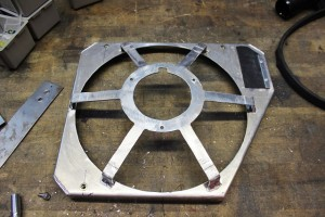 Fan blade cage fabrication for Mishimoto Ford Fiesta ST radiator