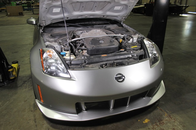 350Z intake hose test vehicle