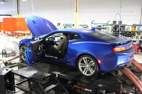 Our Camaro SS on the dyno
