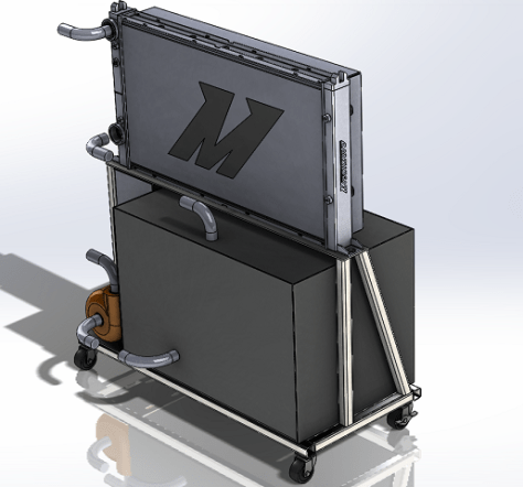 Waterjet cooler 3D model