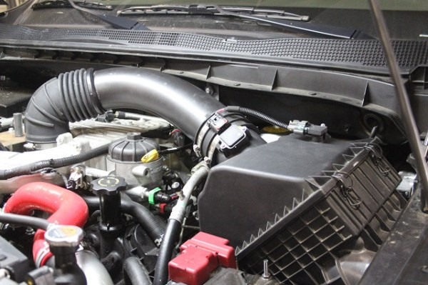 Stock Nissan Titan air intake