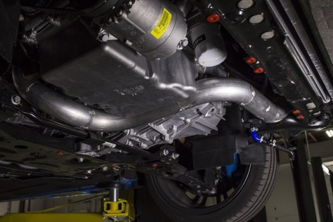 Prototype intercooler piping on the Focus RS