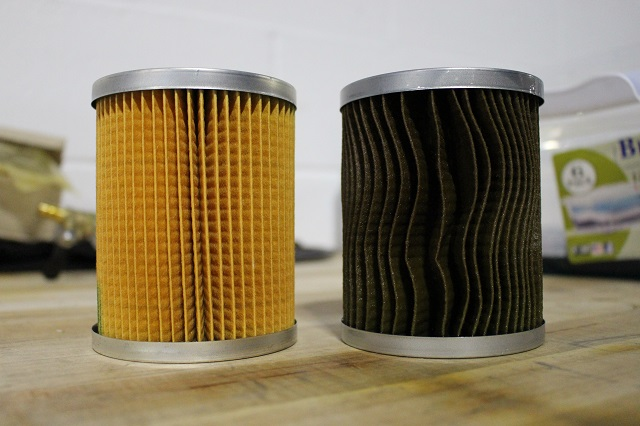 Before and after Titan XD coolant filtration kit testing