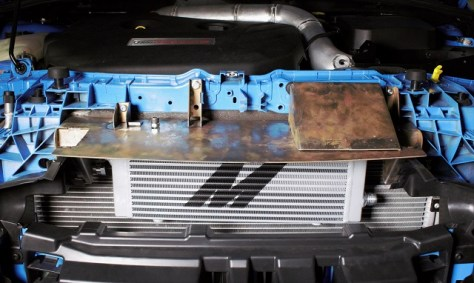 Prototype Focus RS oil cooler bracket
