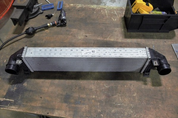 Our Ford Focus ST intercooler on our surgical table