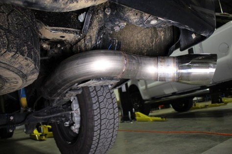Titan XD exhaust prototype installed