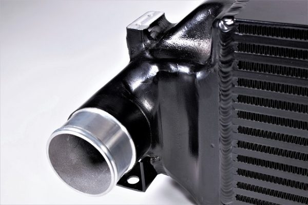 Hot side of the intercooler