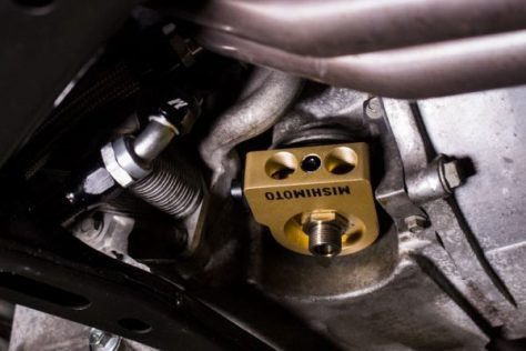 Sandwich plates are a simple and effective way to tap into an engine's oil source.