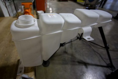 Our spare stock tank gets a light coating in preparation for it's 3D scan.