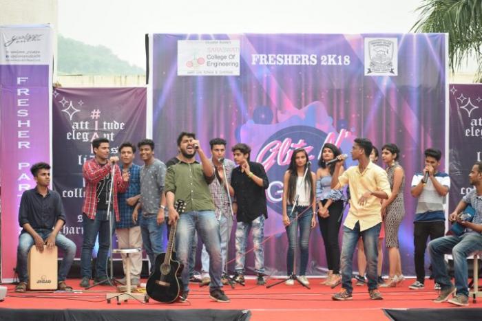 saraswati college freshers party