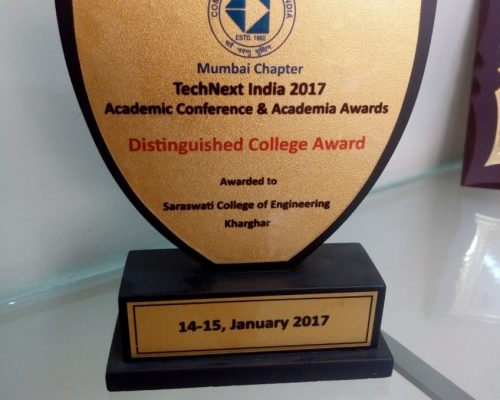 Distinguished college award by Technext India
