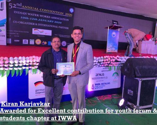 Indian Water works association Award