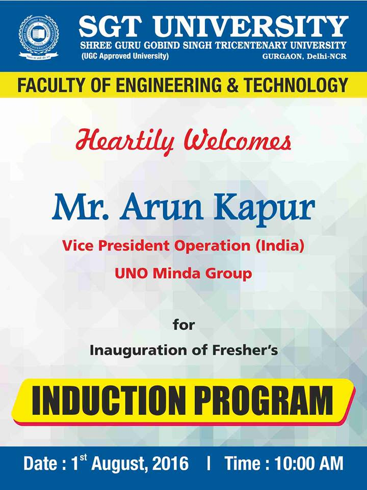 Faculty of Engineering Induction Program