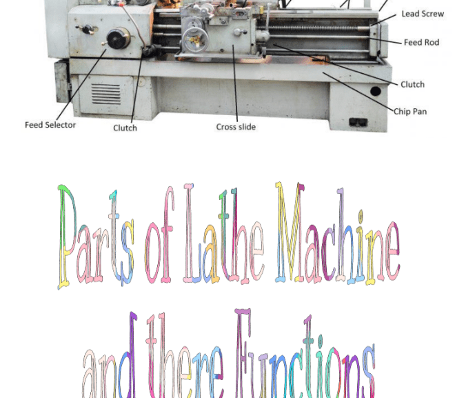 Parts of Lathe Machine and their Functions