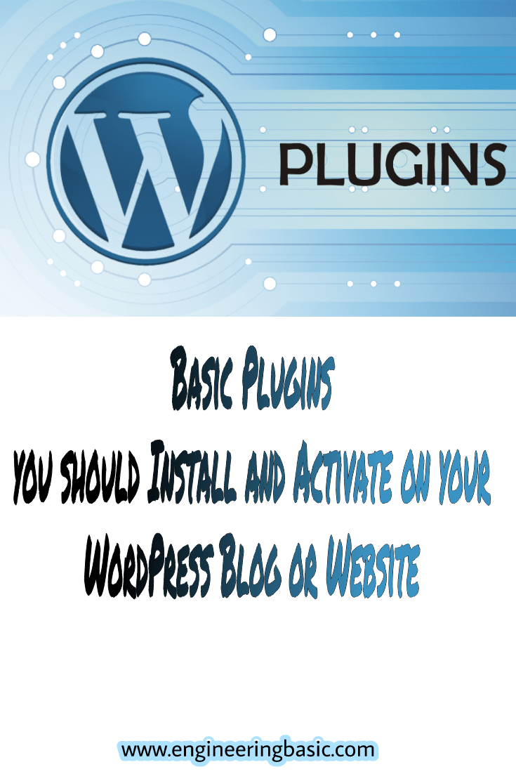Basic Plugins you should Install and Activate on your Wordpress Blog