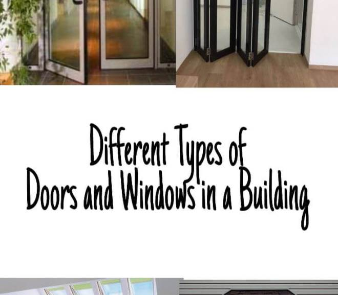 Different Types of Doors and Windows in a Building