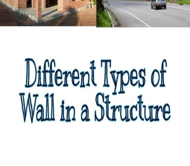 Different Types of Wall in a Structure