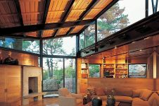 Description by Lake_Flato Architects _ Mature stands of ponderosa pine_ scrub oak_ and native grasse. The design i
