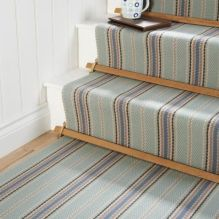 Stylish Stair Carpet Ideas to Enhance the Visual Look of Your Home _ modern strip stair runners 201