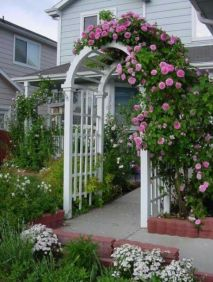 √ Enchanting Rose Arbor 2019 _frontyardlandscaping _flowergarden _homeoutdoor _flowerdecor _backyard