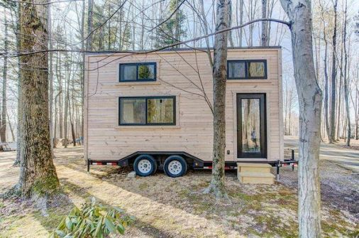 12 Tiny House Companies That Can Make Your Micro_Living Dreams Come True _ Photo 9 of 12 _ The Mohic. This 20_foot tiny home has an unfinished contemporary exterior_ as well as a bright