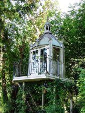 A _Folly_ overlooking Kathy Fries_s knot garden _garden _folly _treehouse